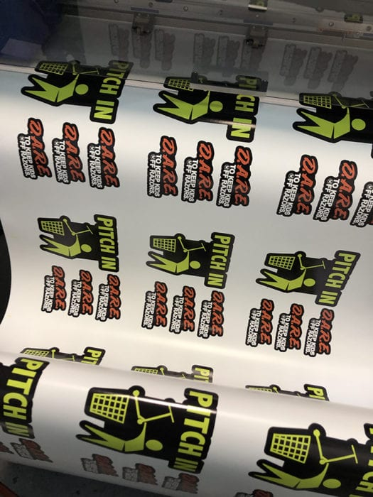 Sticker Machine Printing Custom Stickers