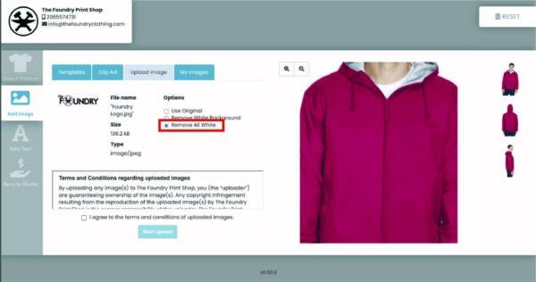 Online Apparel Design Tool